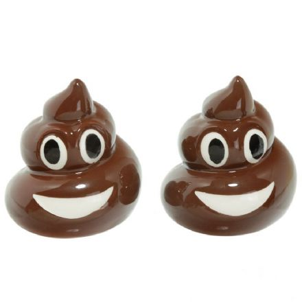 Poop Funny Salt & Pepper Shaker Ceramic Cruet Set
